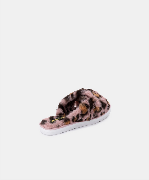 Pillar Faux Fur Slipper - Leopard
