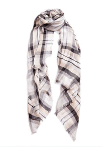 Scottish Plaid Scarf - Cloud