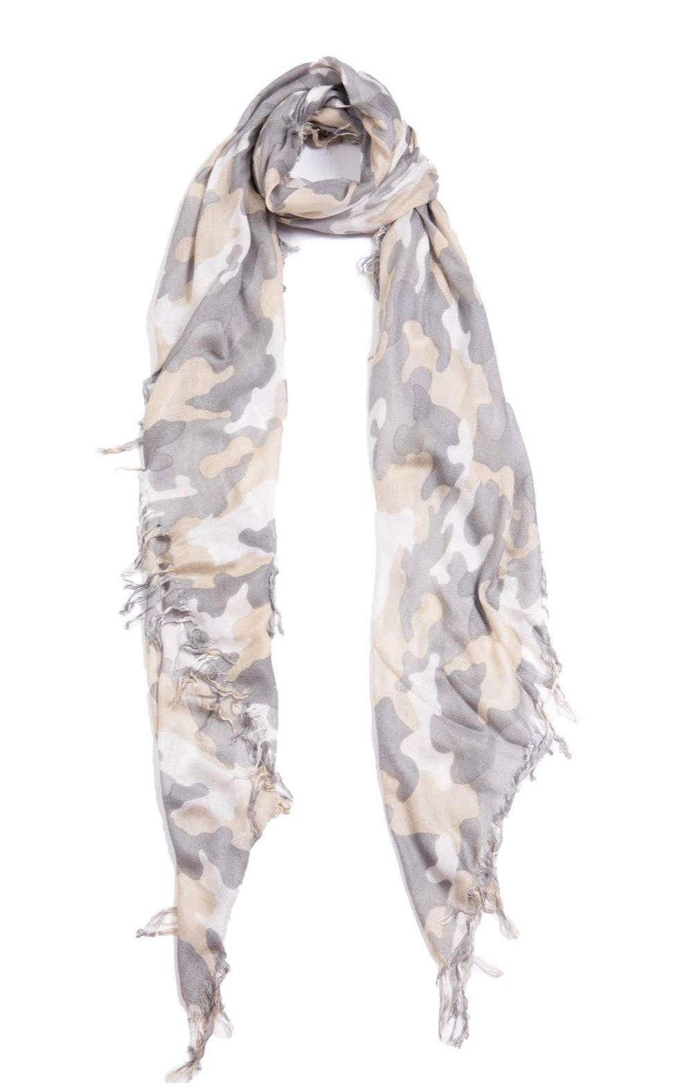 Tissue Solid Scarf - Camo Cloud