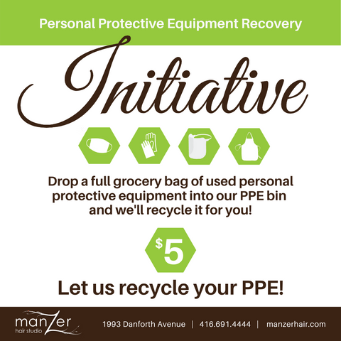 Recycle your used PPE with us.