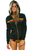 Aviator Nation 5 Stripe Hoodie in Charcoal / EQUATION Boutique