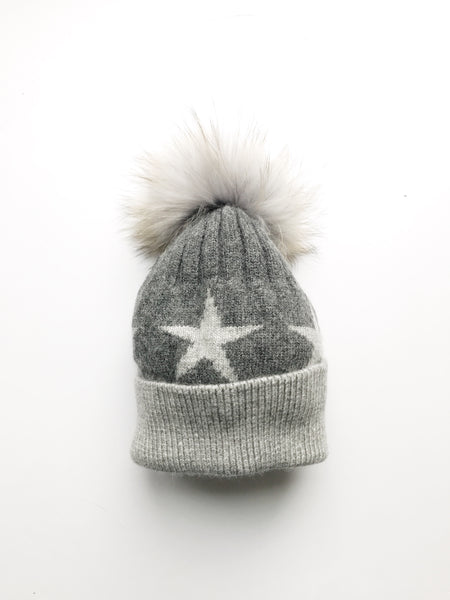 Equation Starry Hat in Dark gray with heather gray stars / EQUATION Boutique