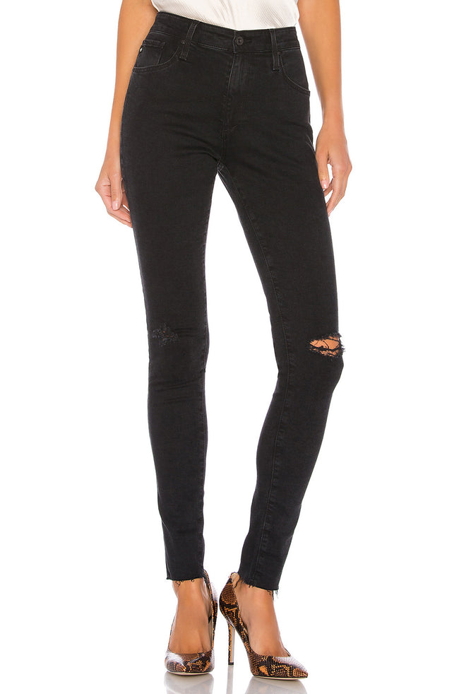 AG Farrah Skinny in Altered Black Destructed / EQUATION Boutique