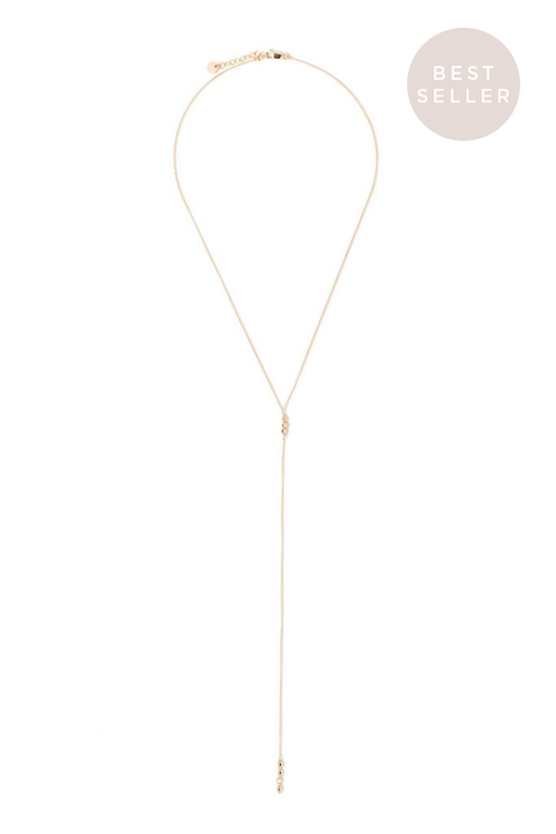 Tess+Tricia Gold Filled Lariat Necklace - EQUATION