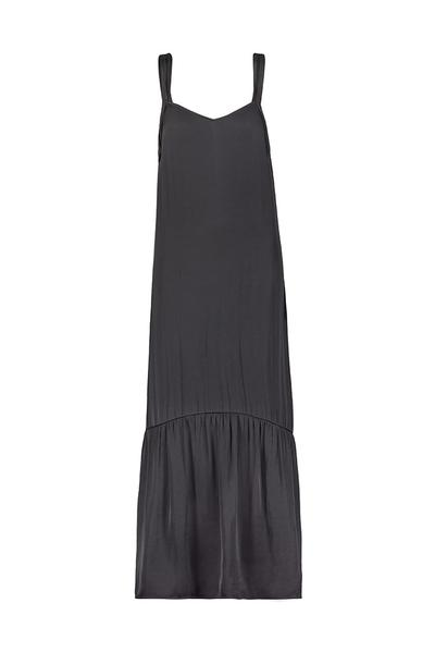 David Lerner Double Strap Midi Dress in Black / EQUATION Boutique