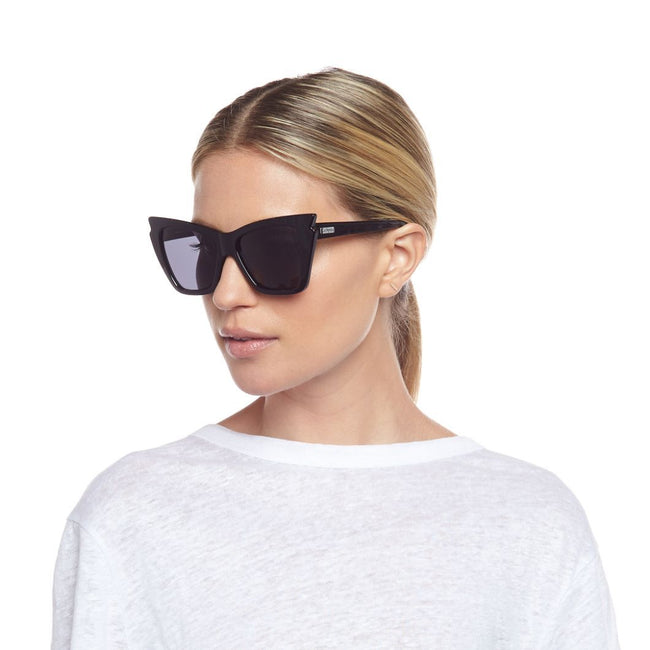 Le Specs Rapture Sunglasses in Black / EQUATION Boutique