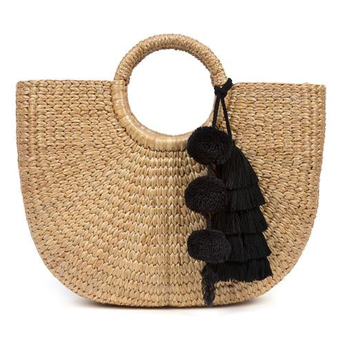 JADEtribe Basket bag with tassel / EQUATION Boutique
