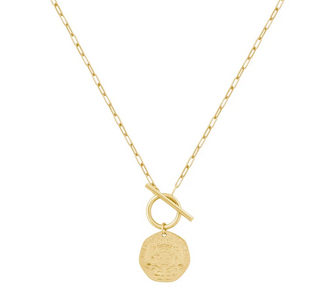 Electric Picks Yankee Coin Necklace