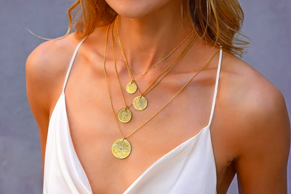 Electric Picks Royal Flush Coin Necklace