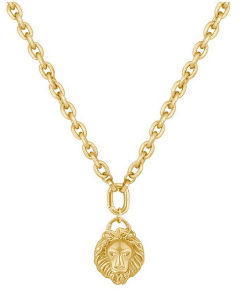 Electric Picks Labryinth Lion Head Necklace