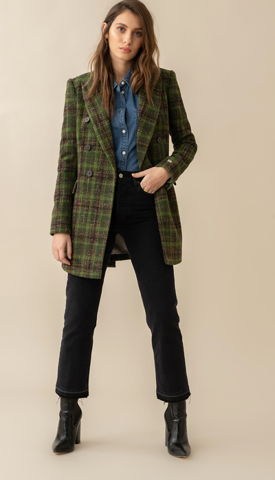 Soia & Kyo Floriana Semi-Fitted Belted Wool Blazer