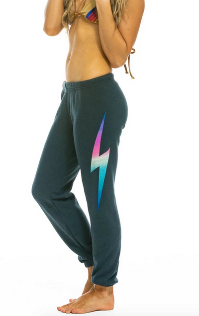 Aviator Nation Bolt Sweatpants - Rainbow Pink / EQUATION Boutique