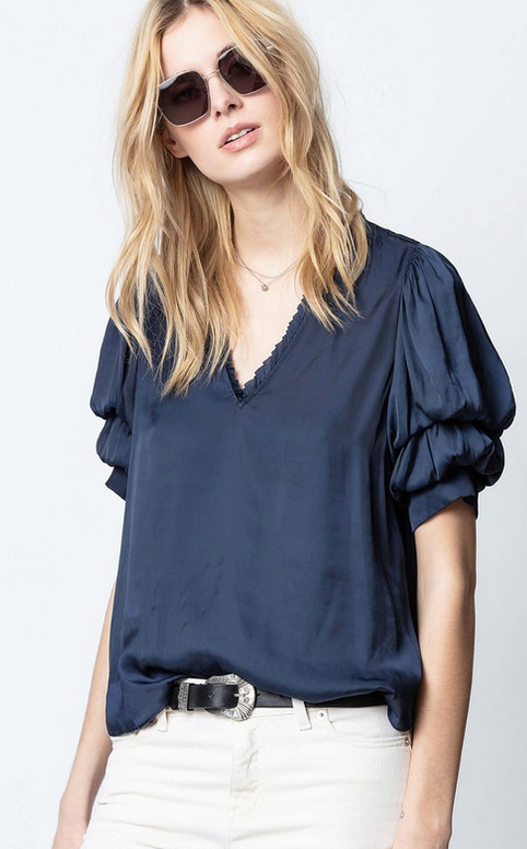 Zadig & Voltaire Taste Satin Top / EQUATION Boutique