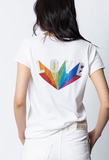 Zadig & Voltaire Love Rainbow Strass Henly Tee / EQUATION Boutique