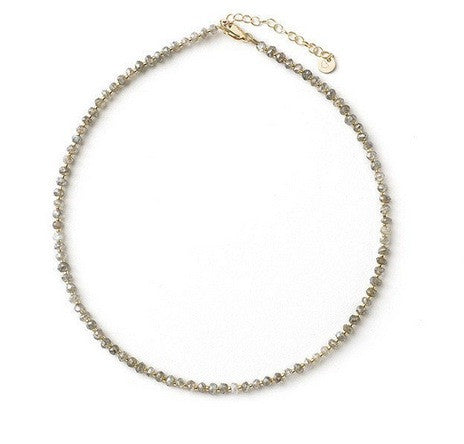 Tess + Tricia Labradorite Faceted Choker / EQUATION Boutique