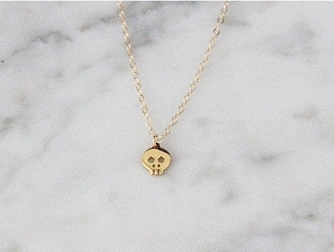 Seoul Little Skull Necklace / EQUATION Boutique