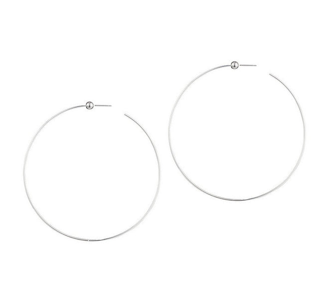 Jenny Bird Large Icon Hoop-Silver / EQUATION Boutique