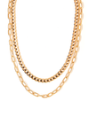 Tess+ Tricia Quinn Double Necklace- Gold / EQUATION Boutique