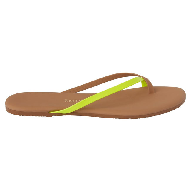 TKEES Riley Flip Flops (Neon Yellow) / EQUATION Boutique