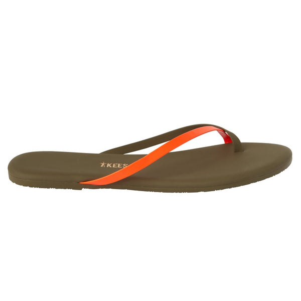 TKEES Riley Flip Flops (Neon Orange) / EQUATION Boutique
