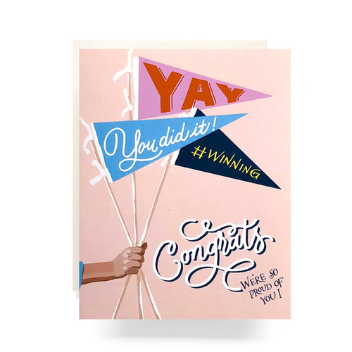 Antiquaria - Pennant Congrats Greeting Card / EQUATION Boutique