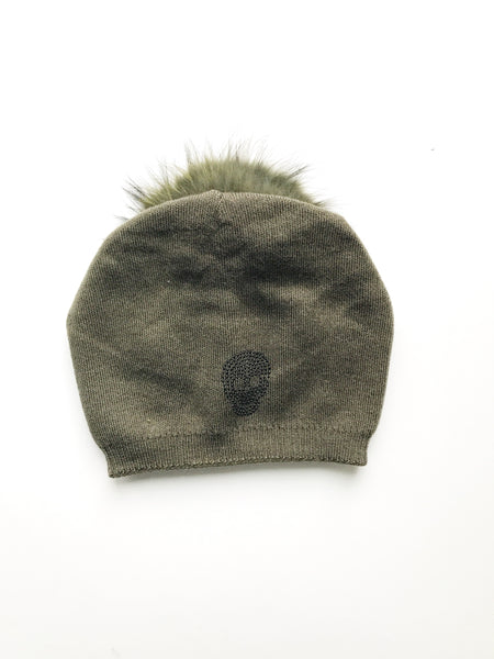 Equation Skully Slouchy pom pom Beanie / EQUATION Boutique