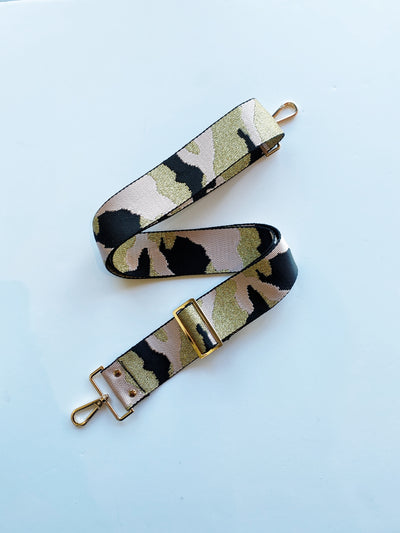 Equation Pink Camo Wide Bag Strap / EQUATION Boutique