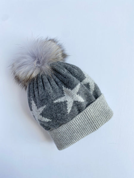 Equation Starry Hat in Dark gray with heather gray stars