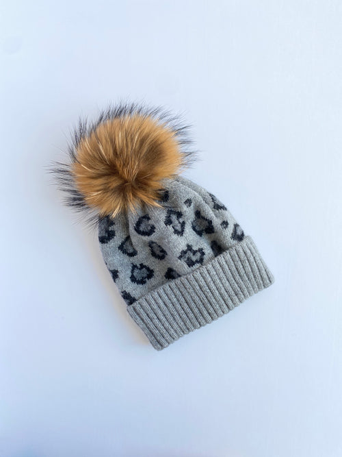 Equation Leopard Hat in Gray