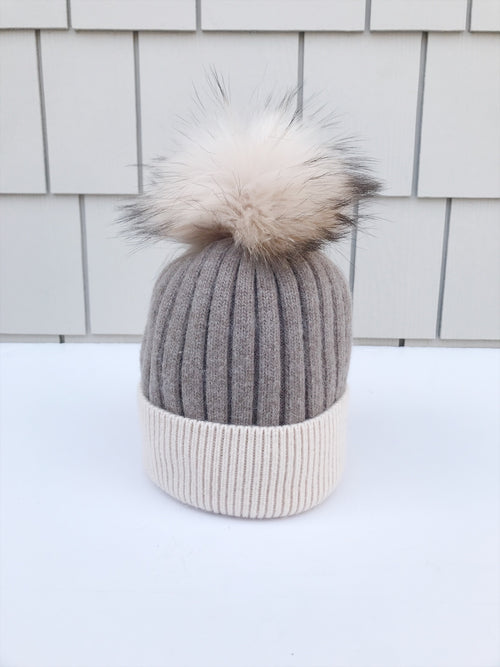 Equation Milla Hat in Brown/Ivory / EQUATION Boutique