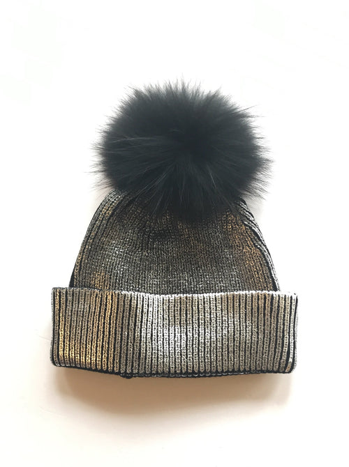 Equation Ali Pom Hat in Silver Foil / EQUATION Boutique