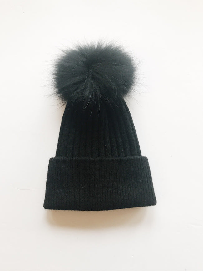 Equation Elliott Hat in Navy w/ Navy pom / EQUATION Boutique