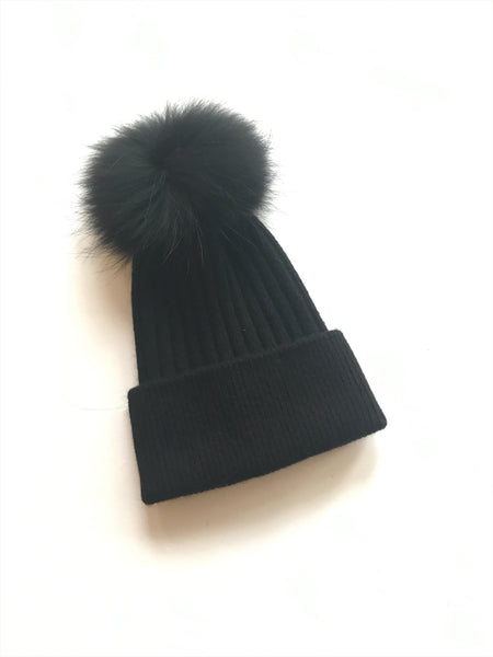 Equation Elliott Hat in Black w/ black pom / EQUATION Boutique
