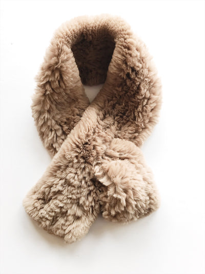 Furry Scarf -Caramel / EQUATION Boutique