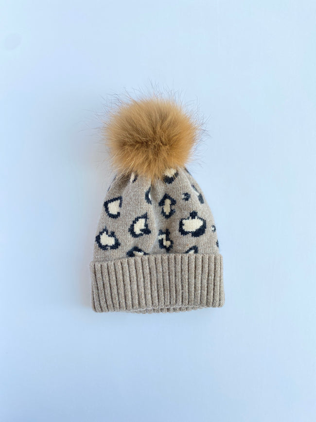 Equation Leopard Hat in Oatmeal