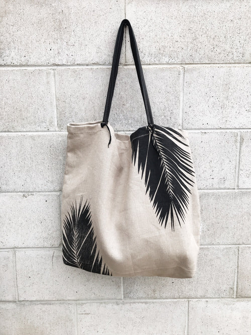 ToteM Large Palm Canvas Tote Bag / EQUATION Boutique