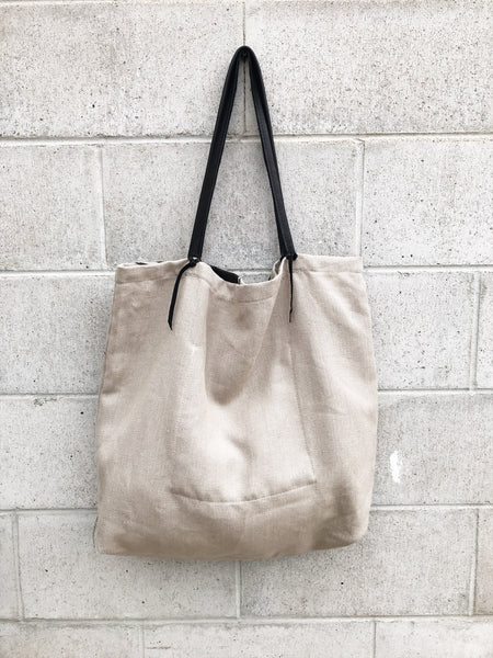 ToteM Large Palm Canvas Tote Bag