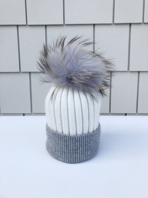 Equation Milla Hat in White/Gray / EQUATION Boutique