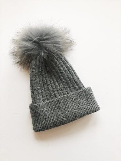 Equation Elliott Hat in Dark gray w/ gray pom / EQUATION Boutique