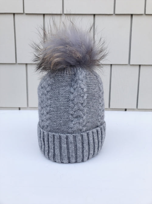 Equation Olivia Hat in Gray w/ Gray pom / EQUATION Boutique