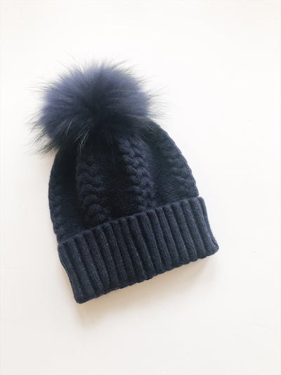 Equation Olivia Hat in Navy w/ Navy pom / EQUATION Boutique