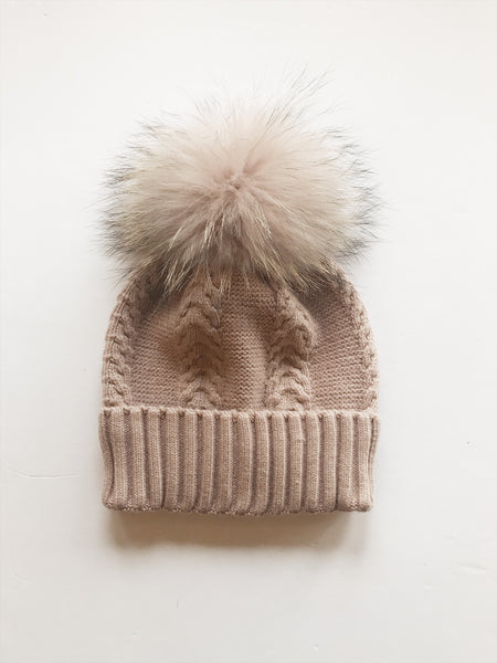 Equation Olivia Hat in Pink w/ Pink pom / EQUATION Boutique
