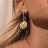 Tess + Tricia Luxe Large Hoop Frond Earring / EQUATION Boutique