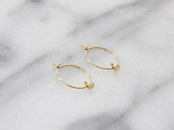 Seoul Little Moon Hoops / EQUATION Boutique