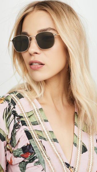 Le Specs Neptune Deux Sunglasses in Gold (Polarized) / EQUATION Boutique