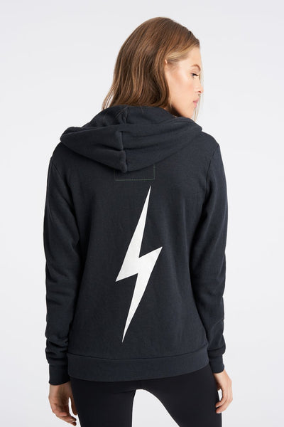 Aviator Nation Bolt Hoodie-Charcoal / EQUATION Boutique