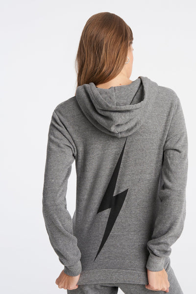 Aviator Nation Bolt Hoodie in Heather Gray/Black / EQUATION Boutique