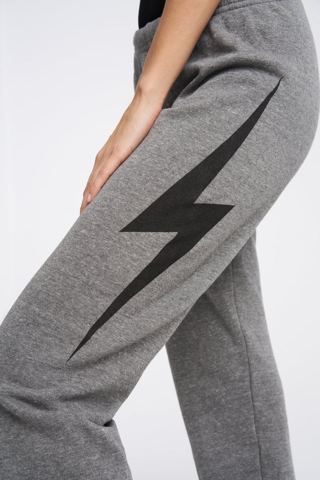 Aviator Nation Bolt Sweatpants-Heather Gray / Black / EQUATION Boutique