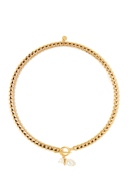 Tess+ Tricia Quinn Double Necklace- Gold