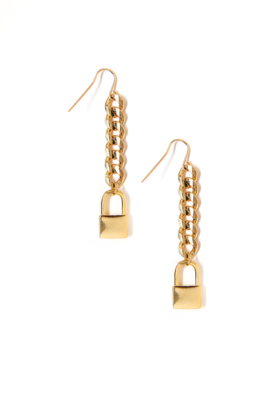 Tess+ Tricia Lock Charm Earring / EQUATION Boutique